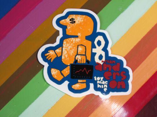 Ed Templeton Steamer Staba Anderson+ vtg 1990s Toy Machine skateboards sticker