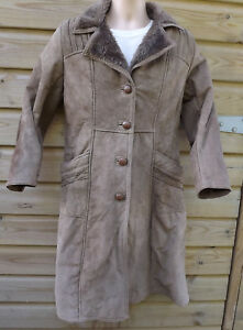 Customising Taupe Ladies Long For Jacket ~ 14 Leather Ready Coat zxgH1