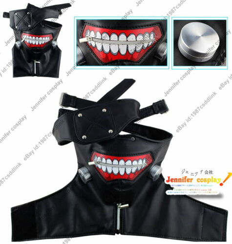 Ken Kaneki from Tokyo Gho cosplay costume pleather mask