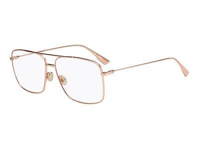 Ambizioso Montatura Occhiali Da Vista Dior Autentici Diorstellaireo3 Oro Ddb/13 Grande Assortimento