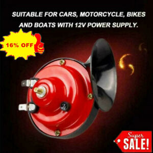 150DB 12V Electric Snail Air Horn Van Train Car Truck Motorcycle Sound P0D1