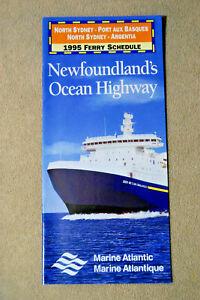 Marine-Atlantic-1995-Ferry-Schedule-North-Sydney-Port-Aux-Basques