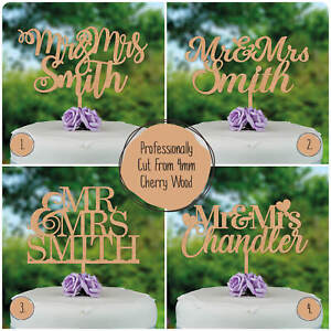 Wedding-Cake-Toppers-PERSONALISED-Wooden-Rustic-Custom-Mr-amp-Mrs-Cake-Decorations