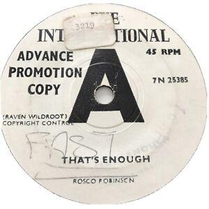 "Mega RARE Soul Promo 7"" ROSCO ROBINSON That's Enough/One More Time 7N25385 1966"