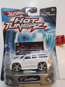 Hot-Wheels-Coche-Tunerz-2002-Cadillac-Escalade-Blanco-W