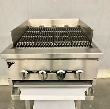 24 Gas Char Broiler Heavy Duty Charcoal Grill 2 Natural Or Propane Radiant