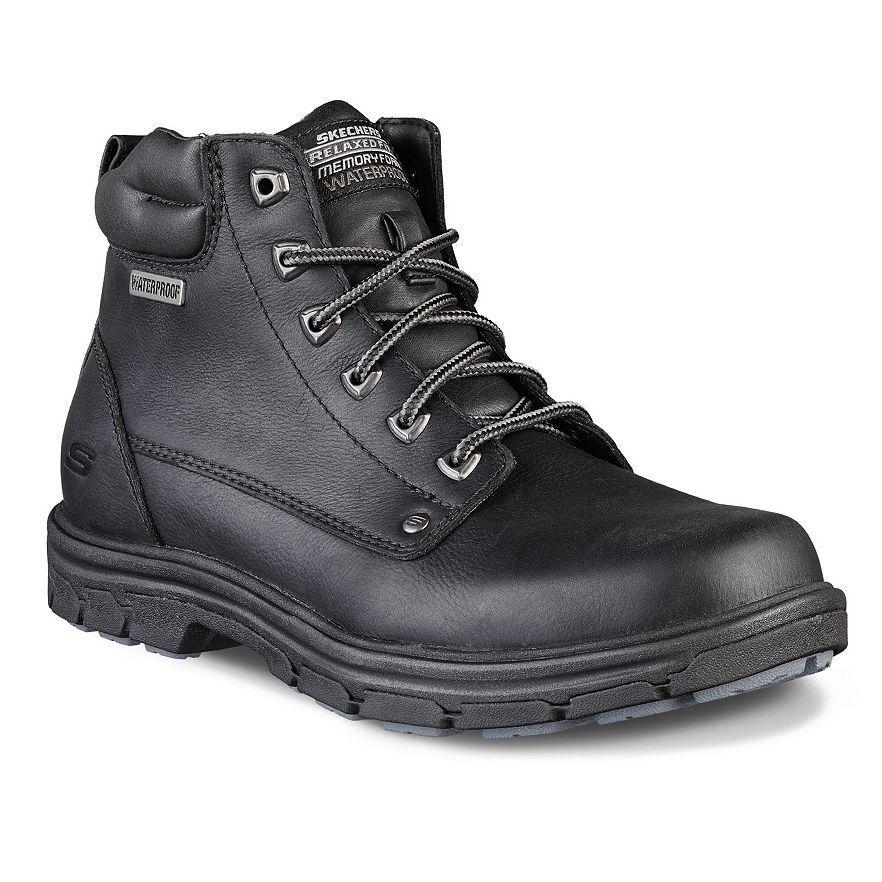 Hombre Skechers Corte Holgado Segmento Amson Negro Botas, 64593 / Negro Amson Negro 2e121a