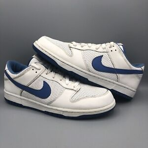 2005-Nike-Dunk-Low-PERFORATED-PERF-WHITE-VARSITY-ROYAL-BLUE-309431-142-SZ-11