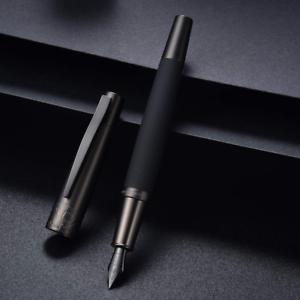 Senior General Ink Converter Pure Black Solid Metal Fountain Pen Extra Fine Nib