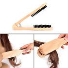 Wood Salon Style Hairdressing Bristle Hair Straightening Brush V Shape Comb Hot!