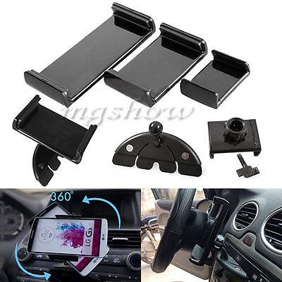 """Universal 360°Adjustable Car CD Slot Mount 5"""" 7"""" 10"""" Holder For Phone Tablet GPS"""