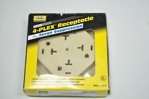 NEW-hubbell-4-Plex-Receptacle-Surge-Protector-4-Outlet-pn-HBL420IS
