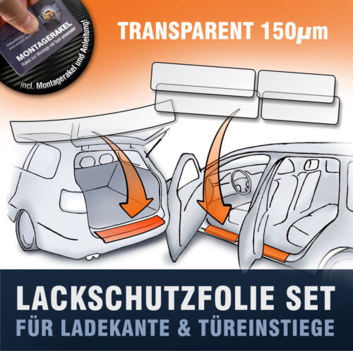 Ladekante /& Einstiege 5trg 6J Lackschutzfolie SET passend für Seat Ibiza SC