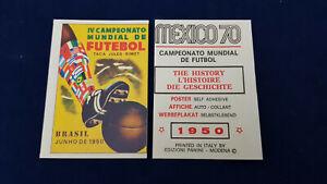 Panini WorldCup 1970 Mexico 70,poster sticker Brasil 1950, original back, unused