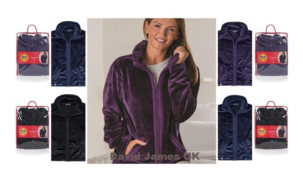 Ladies Ladies Ladies 1.7tog Thermal Winter Warm Heat Holders Snugover Luxury Fleece Zip Jumper 46646d