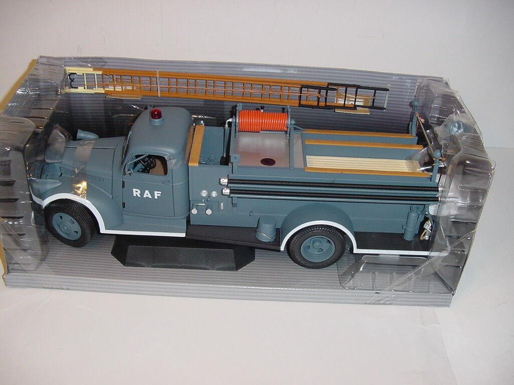 Difficile à trouver 1 16 HIGHWAY 61 1941 Chevrolet  RAF  Voiture de Pompiers Autopompe Neuf dans sa boîte