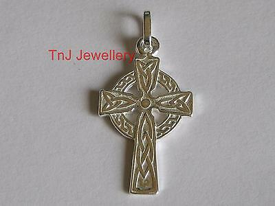 NEW Genuine Solid 925 Sterling Silver Classic Celtic Cross Pendant Top Quality
