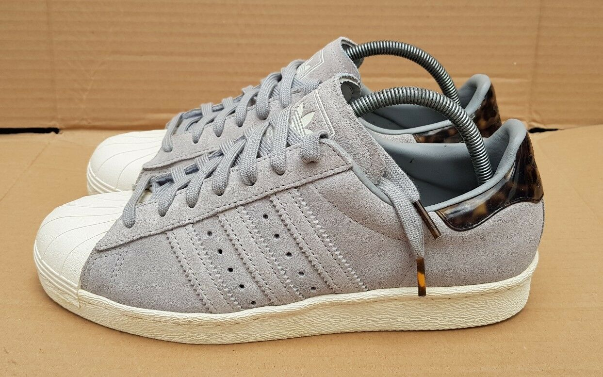 ADIDAS SUPERSTAR 80's TRAINERS Taille 6.5RARE Gris TORTOISE SHELL SHELL SHELL IMMACULATE b78801