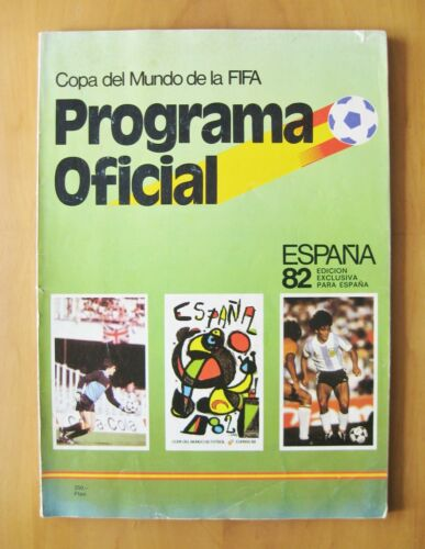 1982 World Cup Official Programme Brochure Spanish Edition Good Condition