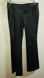 EXPRESS The Stylist Pants Size 10 in Black Stripe Low Rise Slight Flare Leg NWT