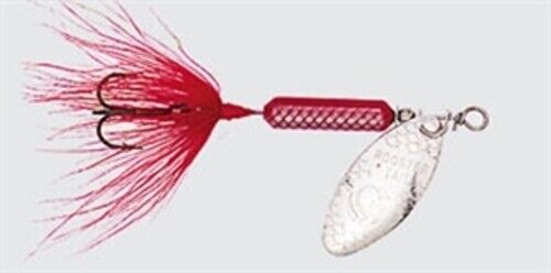 Lot 3 Yakima Worden/'s 208-R 1//8oz Rooster Tail Fishing Bait Red Freshwater Lure