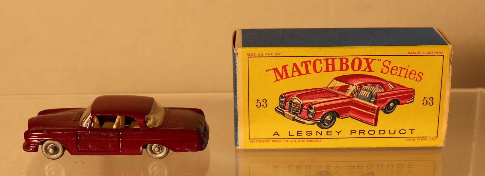 Envío y cambio gratis. DTE Lesney Matchbox Regular ruedas 53-2 53-2 53-2 Granate Mercedes Benz 220SE con Cochero  Disfruta de un 50% de descuento.