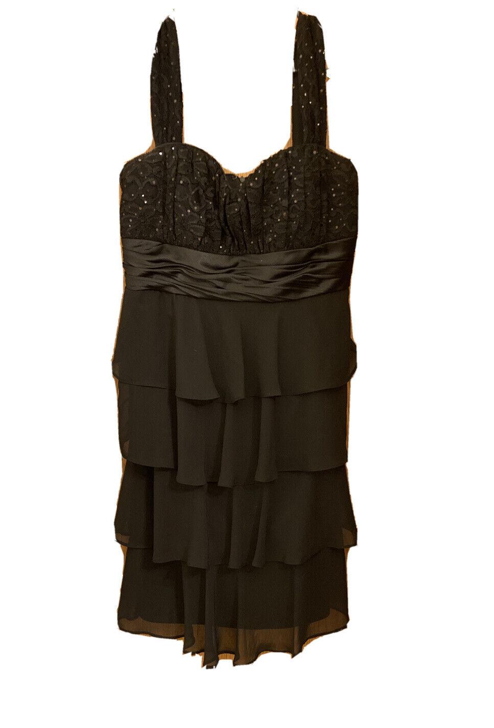 black formal dress size 8
