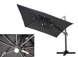 Mandalika Ampelschirm 3x3 M Mit Led Beleuchtung Licht Leisten