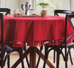 Charmant Image Is Loading Threshold Holiday Tablecloth Round 70 034 Red Design