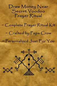 Details about Money Draw Near Voodoo Prayer Ritual Kit Win Cash Wealth  Income Gambling Lottery