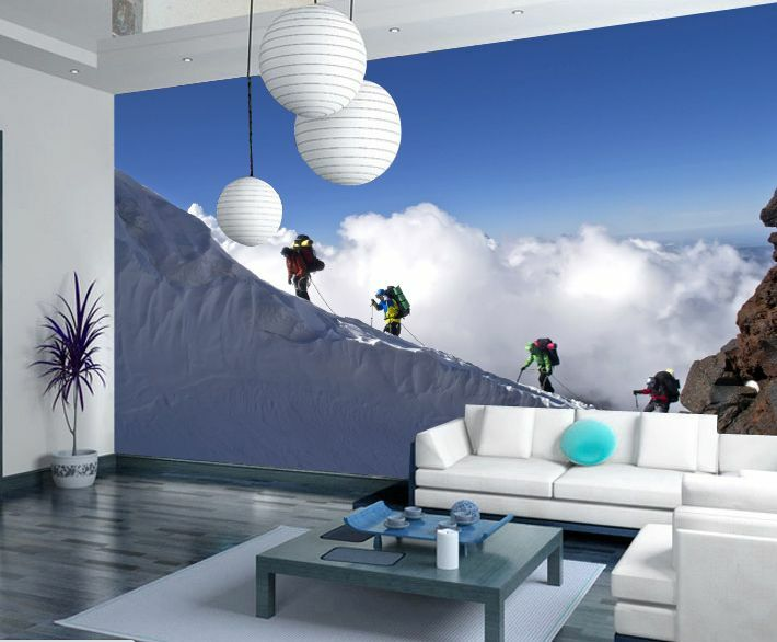 3D Climb Mountains Paper Wall Print Wall Decal Wall Deco Indoor Murals Wall