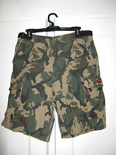Merrill & Forbes Outfitters Ranger Camo Camouflage Cargo Shorts Waist Size 34