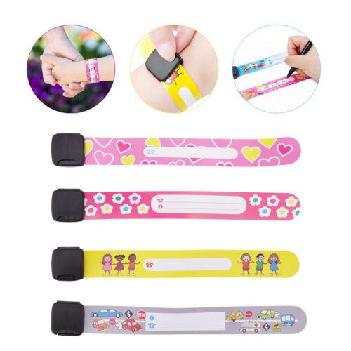 Band for Kids 8//12Pack Child Safety ID Wristband Emergency Bracelets Kids Straps