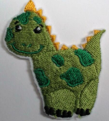 "MACHINE Embroidered Baby Dinosauro APPLIQUE dimensioni 2.20/"" x 2.50/"""