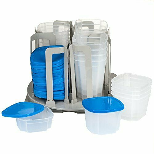 Swirl Around Food Storage Organizer 49-Pieces Microwaveable and Dishwasher Safe