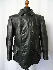 2019 Nouveau Style Men's Vintage Suédois Années 1940 Horsehide Leather Sports Veste De Moto 42r (m)-afficher Le Titre D'origine Produits Vente Chaude
