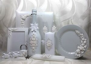 Sekt Hochzeitsgläser  Geschenkidee Geschenk weiß