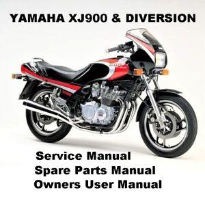 Yamaha Xj900 Diversion 900 Owners Workshop Service Repair Parts Manual Pdf Cd R Ebay