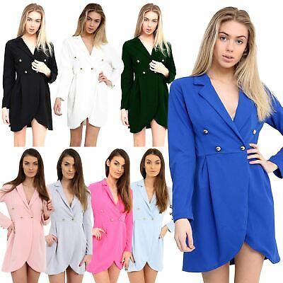 100% Vero Donna Mini Abito Bottone Blazer Design Da Donna Tailor Stile Carino Moda-mostra Il Titolo Originale Paghi Uno Prendi Due