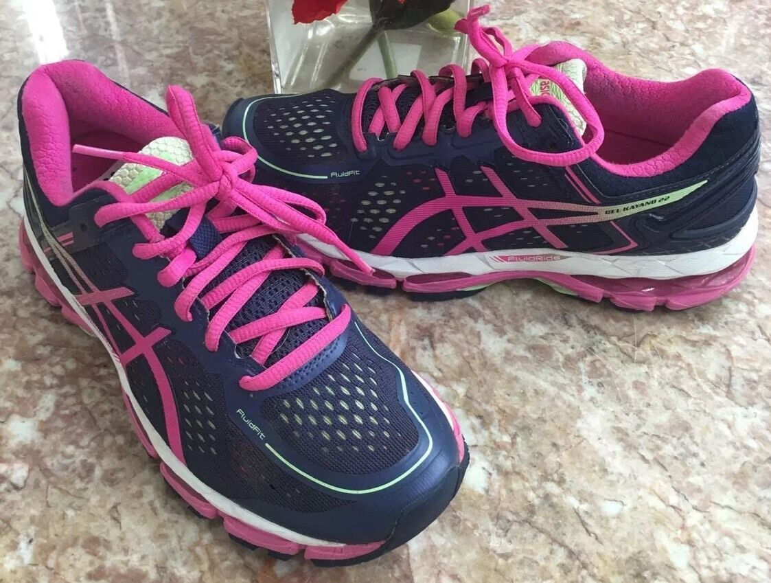 ASICS Men's GEL-Kayano 22 Running bluee Pink Multi-color shoes Size US 6 EUR 37