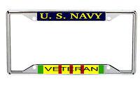 Us Navy Viet Nam Veteran Every State Metal License Frame