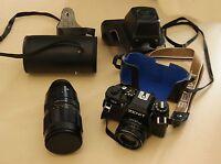 Zenit 122 35mm Spiegelreflexkamera mit 2 Festbrennweiten und Kunststoffetui