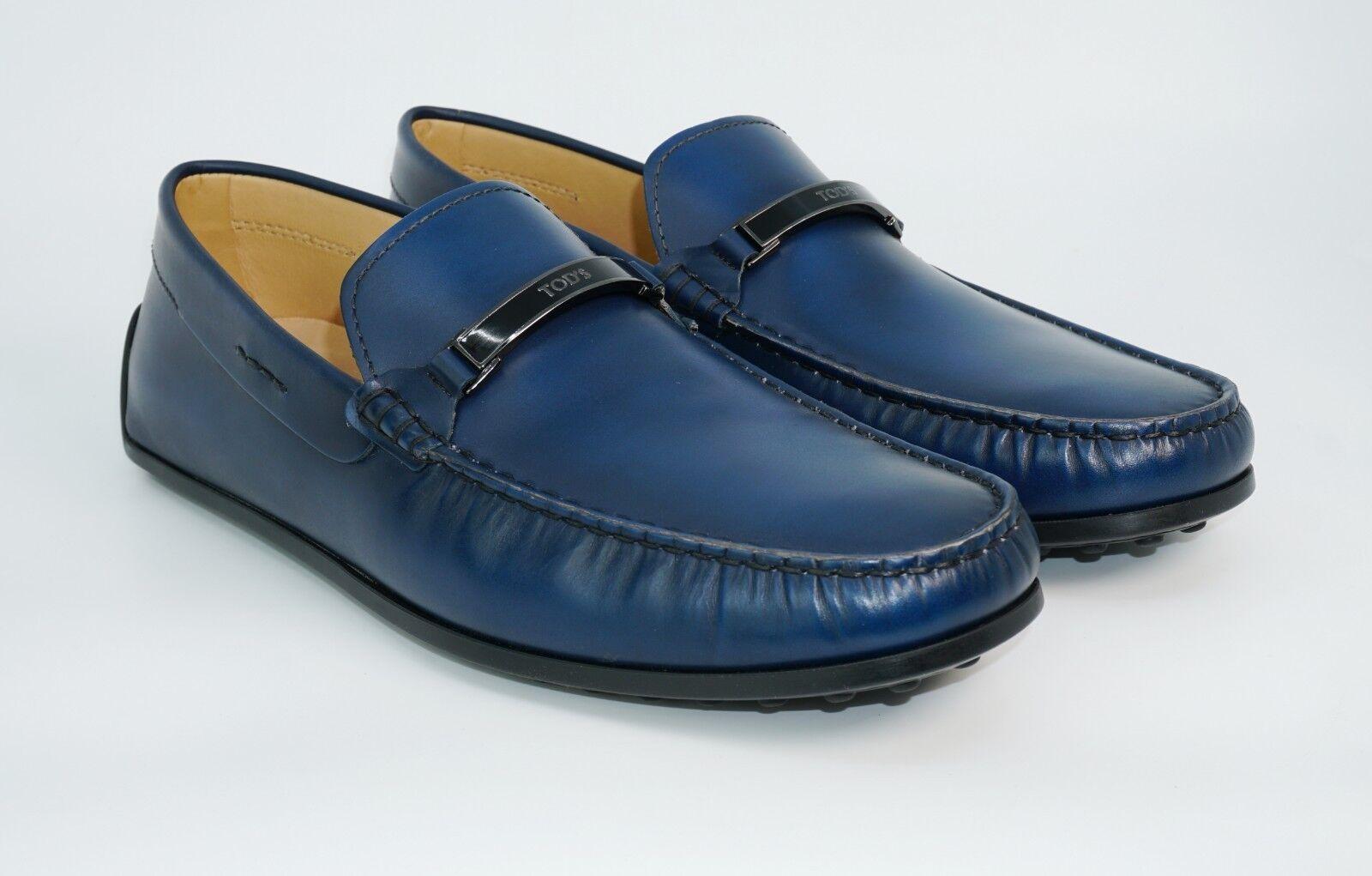 Tod's Men's Logo Bit-Strap Soft Calf Leather Loafer, Light bluee, MSRP  625