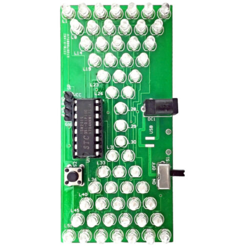 DIY Electronic Hourglass Kit Interesting Learning Kit MCU LED Lights Spare Parts