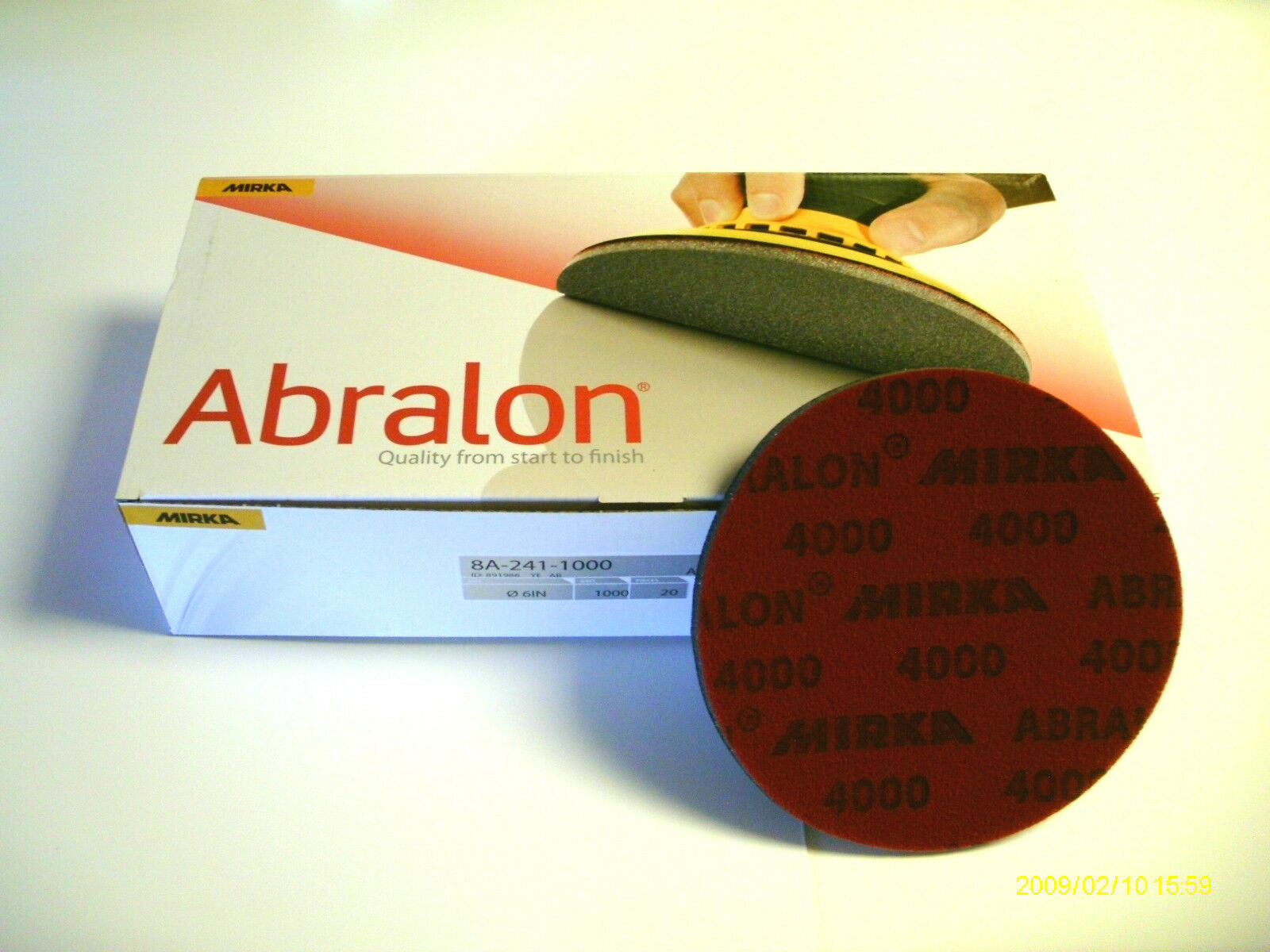 20  6   ABRALON PADS BRAND NEW 4000 GRIT - AUTHENTIC PADS BY MIRKA