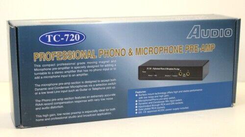 Technolink TC-720  Mic//RIAA Phono Preamp; Accepts Both Dynamic /& Condensor Mics