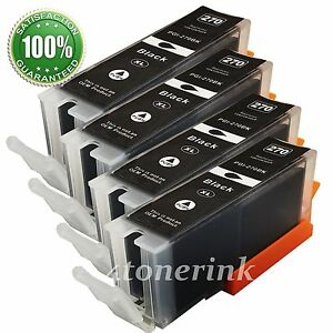 4PK PGI-270 XL Black Ink Cartridges for Canon PIXMA MG5720 MG5722 MG6820 MG6821