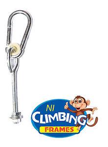 039-O-039-Type-Swing-Hook-Galvanised-Steel-Ideal-for-3-039-039-post-Swing-set-Climbing-M10