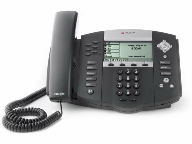 Polycom SoundPoint IP 650 6-Line Phone with 2-Port Ethernet Switch, PoE and LCD