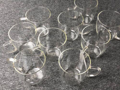 9 Jenaer Glas Tassen Becher Teetassen Schott&Gen Jena DDR